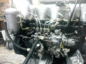 Motor eines Mercedes W110 Diesel